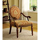 Hammond Accent Chair in Espresso / Antique Oak Finish by Furniture of America