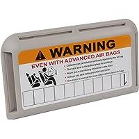 Holdream Organiseur de pare-soleil de voiture carte IC Clip de voiture de stationnement temporaire Nombre Porte Carte Sac pochette de rangement Gris