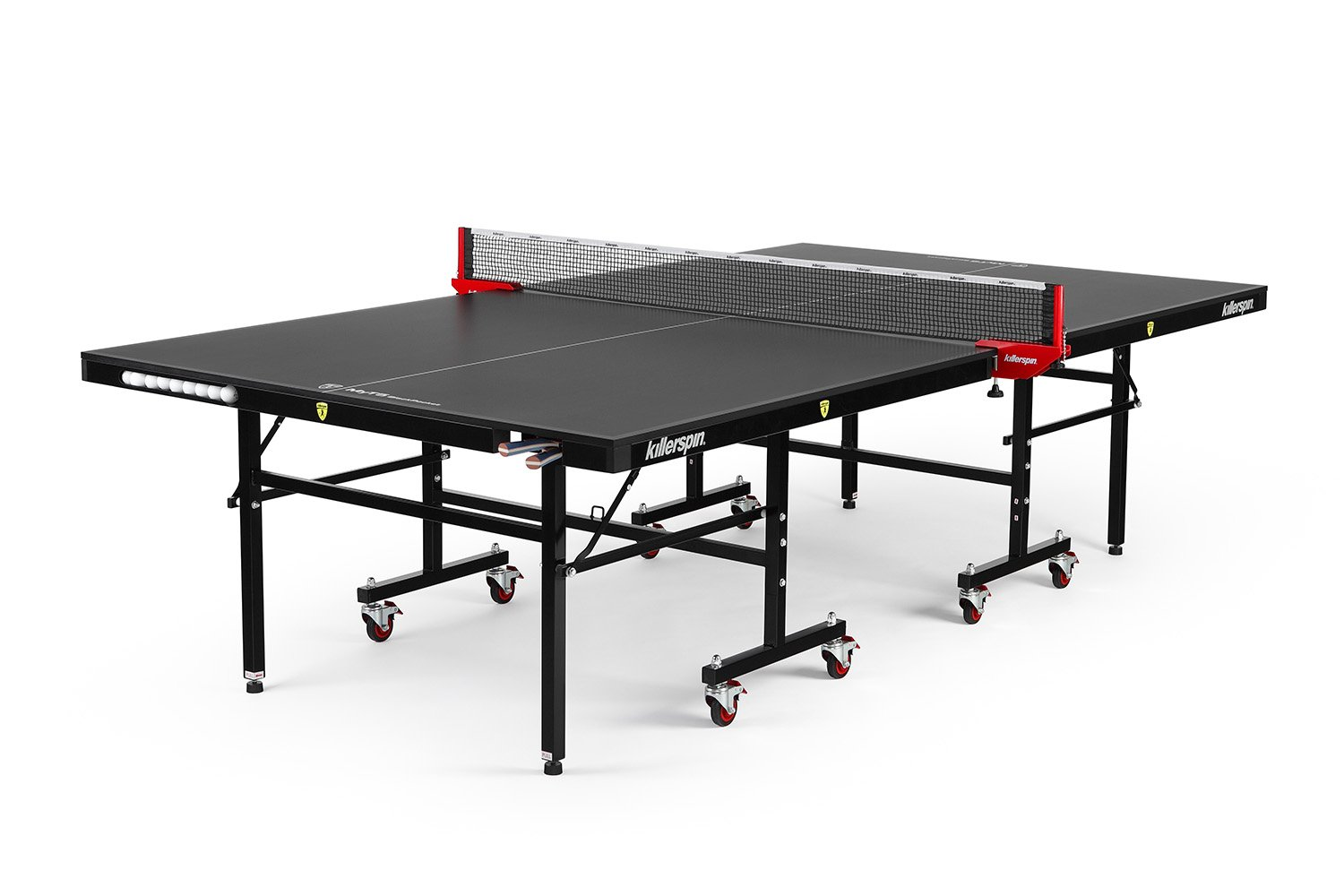 Killerpin MyT5BlackPocket Table Tennis Table - Premium Pocket Designed Ping Pong Table with Thick Durable Frame and Table Top That Stands Up To Hard Use by Killerspin