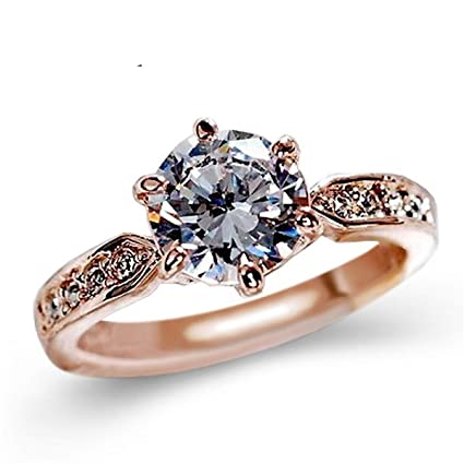 e5c4b86387 Amazon.com: Jewelry Making Chains- AAA Zircon Engagement Rings for ...