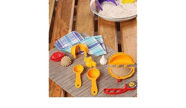 ladoo Karanji 7 Pcs plastique alimentaire Moule Combo pour Kachori Prasad Scoop modak