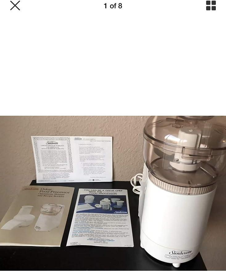 "Pre-owned working /""Sunbeam Oskar/"" Model 14181 electric kitchen food processor."