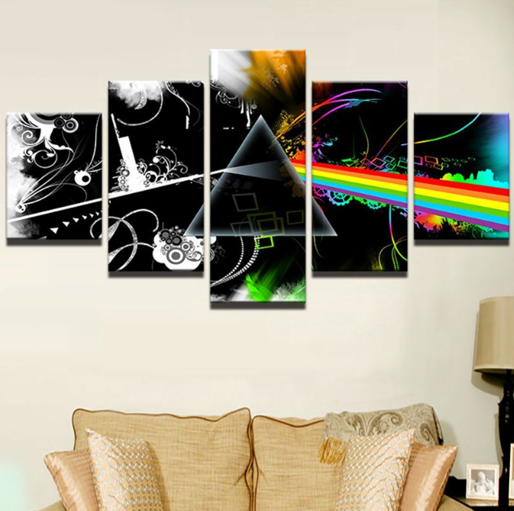 Amazon.de: 5PCS Framed Pink Floyd Canvas Prints - 5 Piece Pink Floyd ...