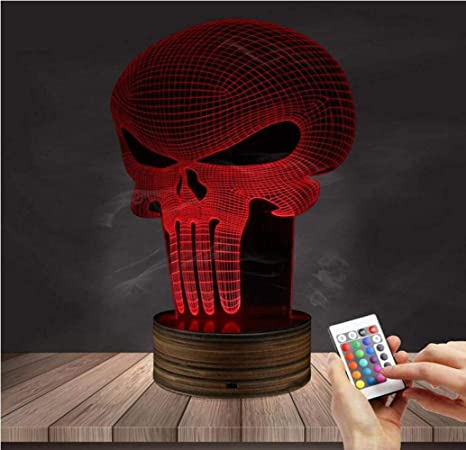 CTO Regalo de Navidad Ilusión 3D Lámpara Led de Luz Nocturna 16 Colores Control Remoto Inserto