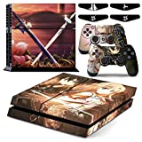 SAO Kirito Asuna - PS4 Designer Skin Decal Sticker for Playstation 4 System Console and PS4 Wireless Dualshock Controller