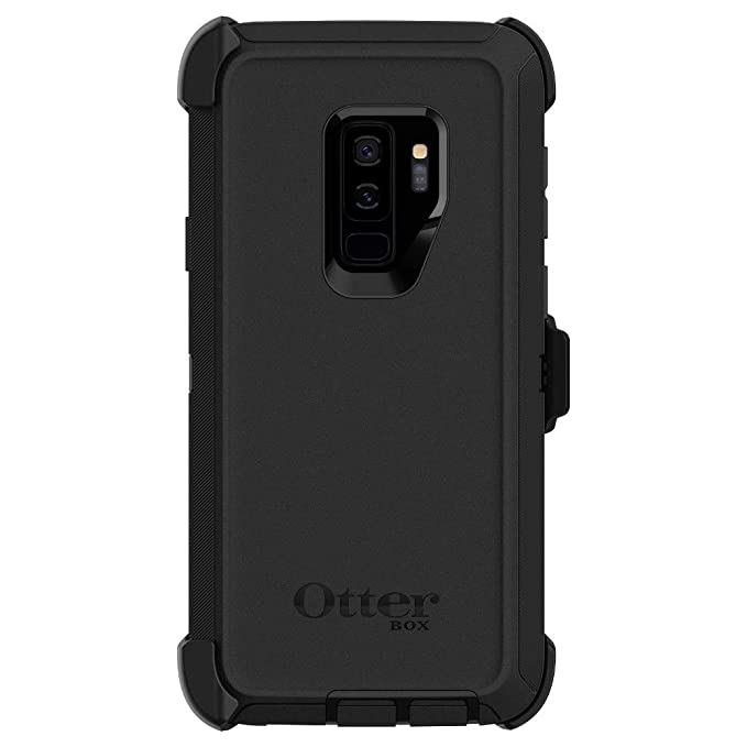 quality design 9b1fa c4487 OtterBox DEFENDER SERIES Case & Holster for Samsung Galaxy S9 Plus - New  SCREENLESS design - (Renewed) (Black)