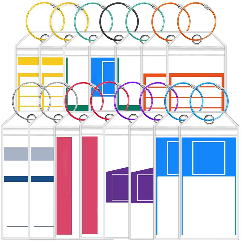15 Pack Wild Etag Holders Zip Seal /& Steel Loops for Cruise Ships Cruise Luggage Tags