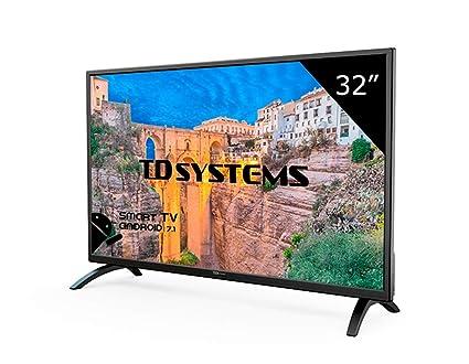 cff1db1f1b51 TD Systems K32DLM8HS - Televisor Led 32 Pulgadas HD Smart, Resolución 1366  x 768,