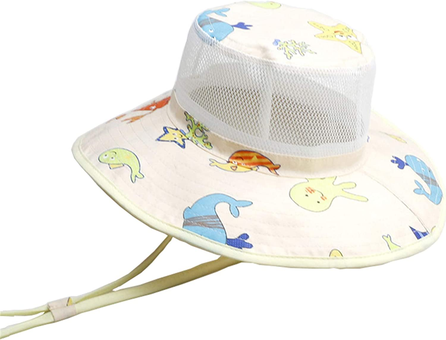 Baby Girl Sun Hat Summer Beach Hats with UPF 50 Toddler Infant with Wide Brim Strap Outdoor Bucket Hat