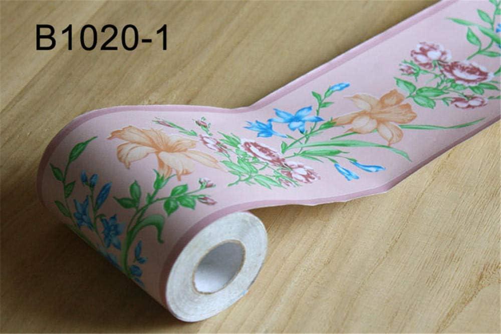 YIDIANYUAN Frise Murale Autocollant Fleur de Trompette rose10cmX10m PVC /étanche Frise Murale adh/ésive D/écoration Murale