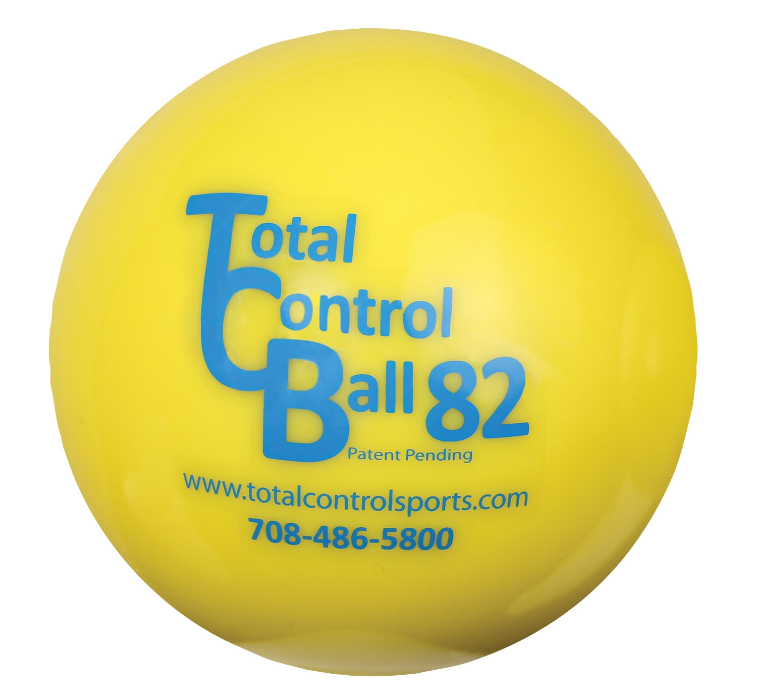 Total Control Sports Batting Ball (Pack of 6), Yellow by Total Control Sports