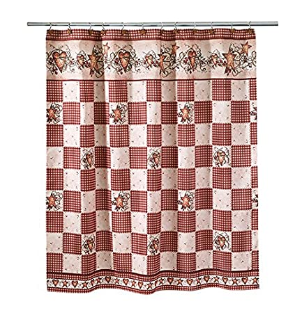 Avanti Hearts And Stars Shower Curtain Multicolored