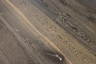 "Elk Mountain White Oak Basalt 9/16 x 7-1/2"" Wire Brushed Engineered Hardwood Flooring AF105w SAMPLE"