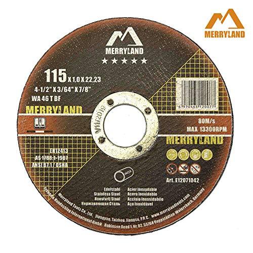 Merryland 4-1/2 X 0.045 Expert-line Cut Off Wheel INOX Stainless Steel Metal Iron 25PCS