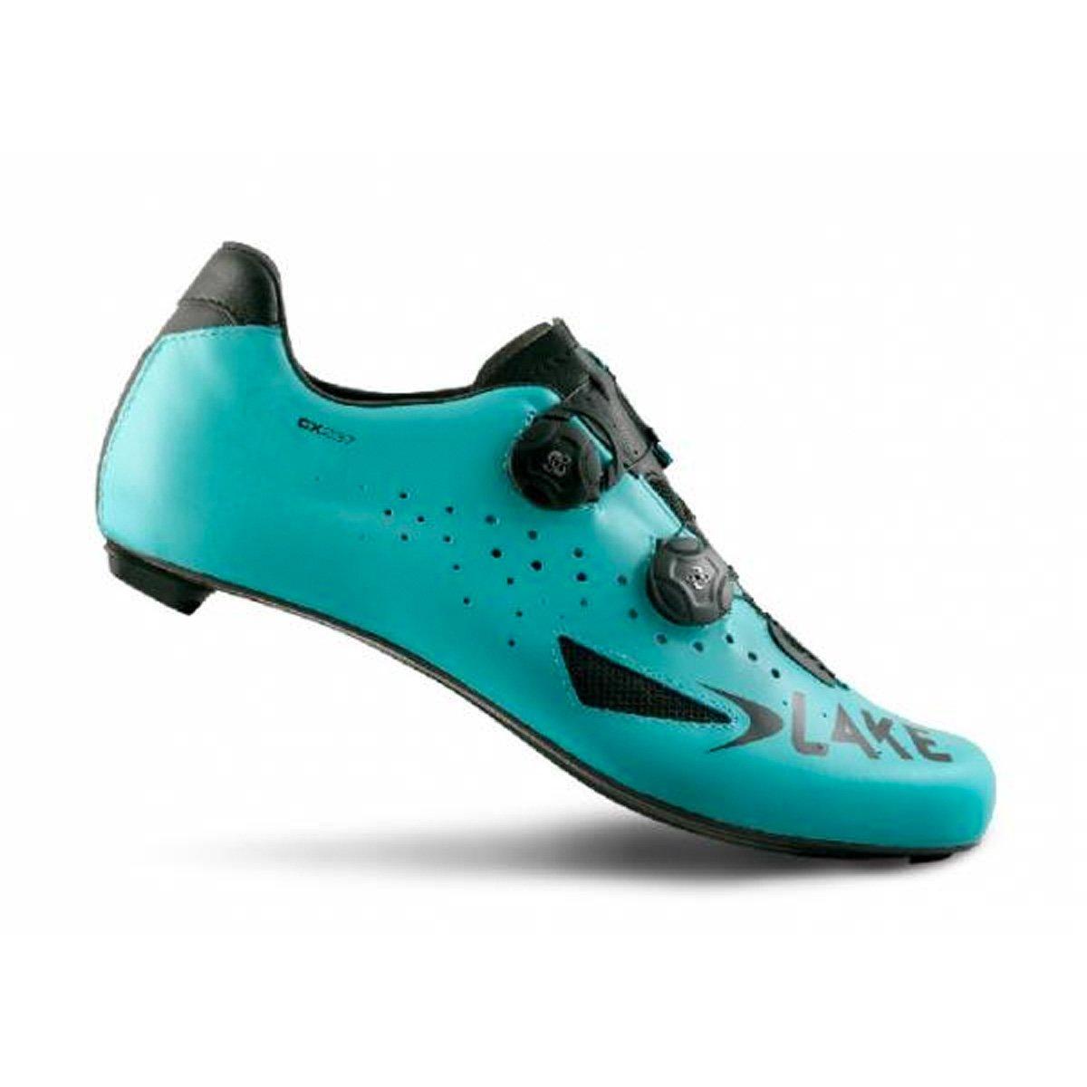 Lake Cycling 2018 Men's CX237 WIDE Road Cycling Shoe - Blue/Black (BLUE/BLACK - 45.5)