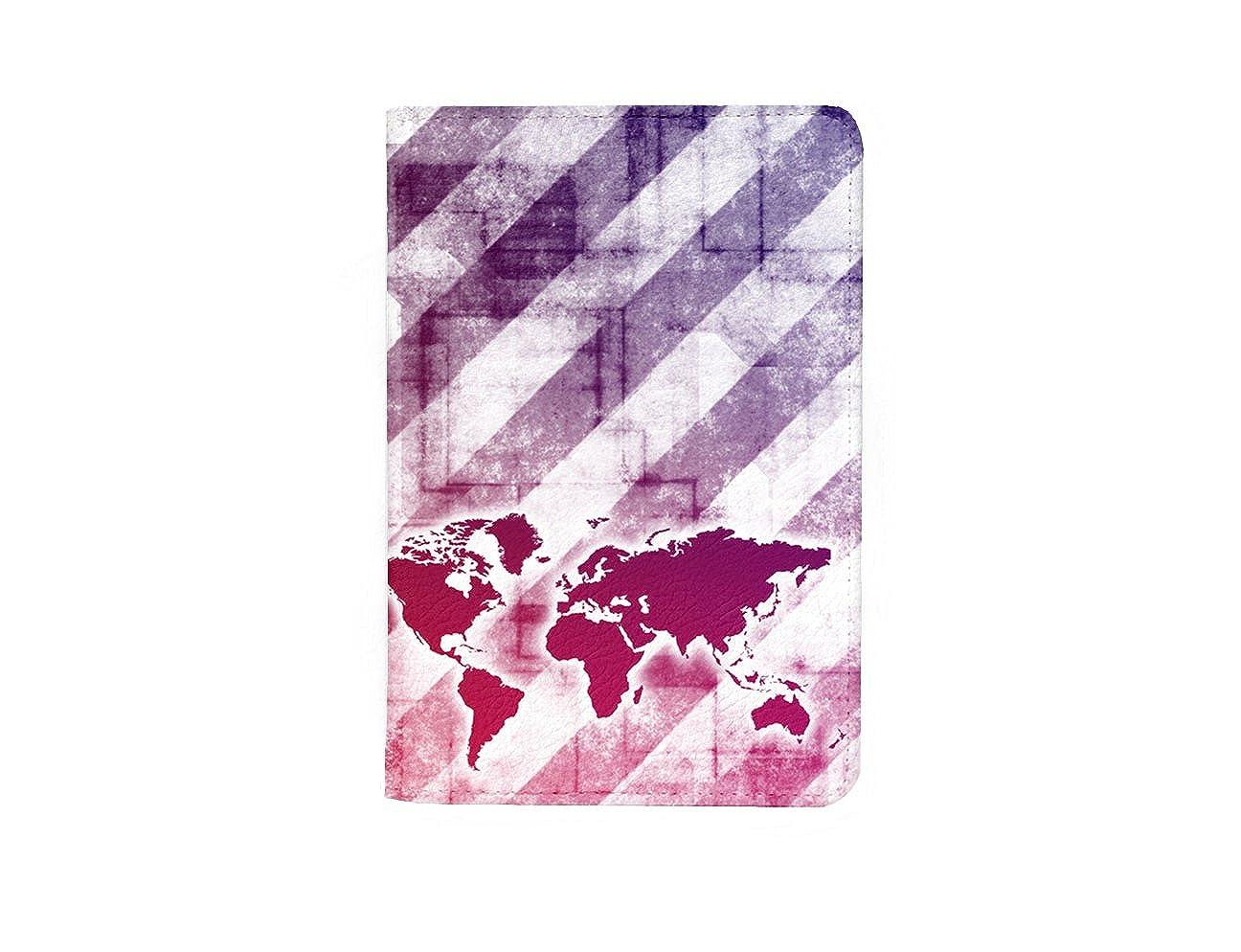 Vintage World Map Leather Business Passport Holder Protector Cover/_SUPERTRAMPshop