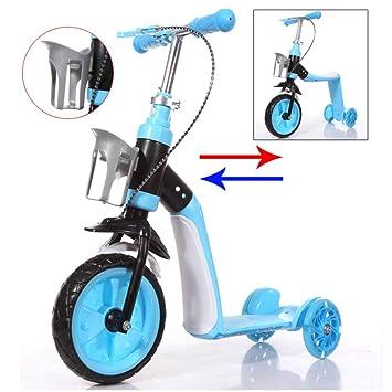 MUYU Scooter de 2 Modos para niños con Rueda de Flash Andador de ...
