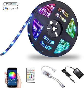 5050 RGB LED Strip Streifen Lichterkette Lichtleiste Adaptateur Télécommande