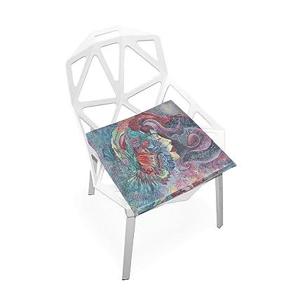 Amazon.com: Plao cojín de asiento Pad, Retro de flores mujer ...