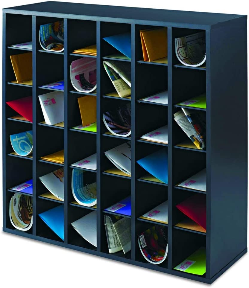 Amazon.com : Letter Tray Stackable Wood 32 Compartment Cubby with