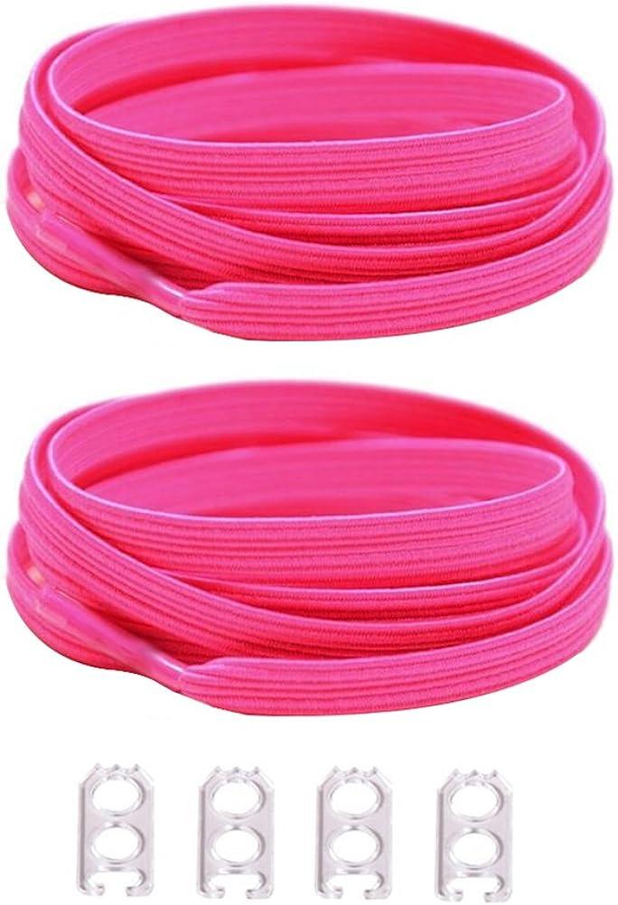 DD Lacets Elastique Adulte Enfant Pas Besoin Dattacher Lacets pour Des Bottes Chaussures de Course Chaussures de Sport