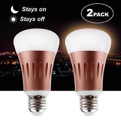 Bombilla LED de 7W con sensor de luz inteligente,lámpara de iluminación para encendido/