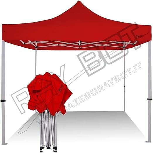 SNODEC Cenador rápido Plegable 3 x 3 m Plegable a Acordeón Feria Pérgola con Laterales, Rojo: Amazon.es: Jardín