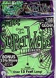 13 FEET STRETCHY – JUMBO GLOW IN THE DARK GREEN HALLOWEEN SPIDER WEBS + 4 SPIDERS, Health Care Stuffs