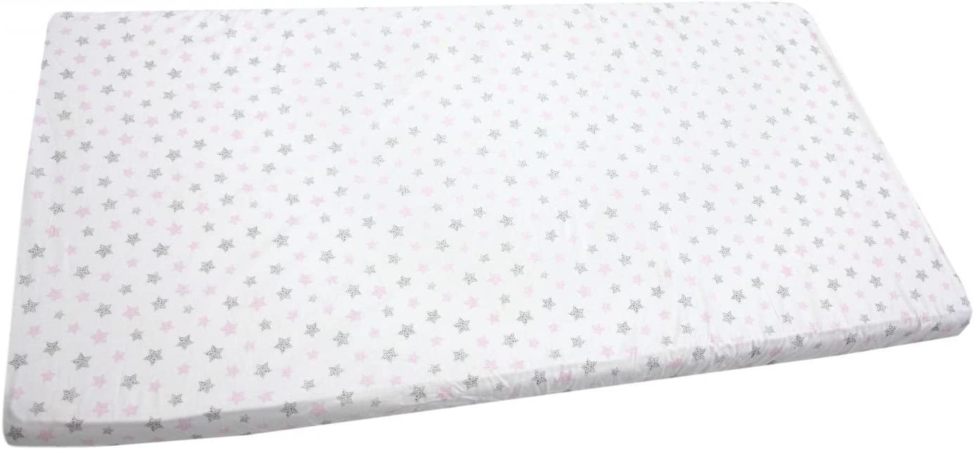 Lama Gray TupTam Baby Bed Crib Cot Fitted Sheets with Printed Designs 70 x 140 cm