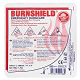 "Product review for Burnshield Premium Sterile Emergency Burn Dressing 4""x4"" (10cm x 10cm) ""Cools The Burn"""