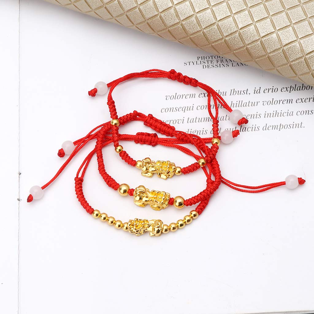 puhoon Chinese Feng Shui Bracelet, Pi Xiu Kabbalah, Red String Lucky Protection (C) by puhoon (Image #4)