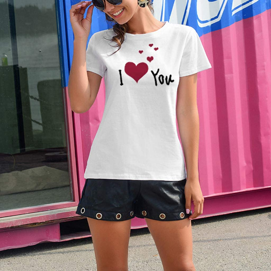 aihihe Women Short Sleeve T Shirts Summer Casual Tops Blouse Color Block Leopard Print Crew Neck Tunic Tees