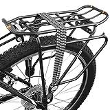 BV Triple Correa de Bicicleta elástica con Accesorios de Plata de Montaje Metal, Color Negro/Gris/Blanco