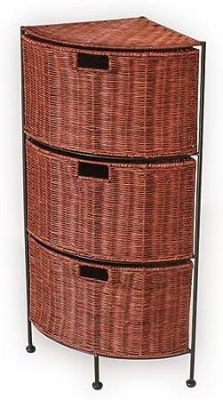 CHQYY Familia Armario de cajonera de ratán Que acolcha cajón Armario Almacenamiento de Tejidos Decorativos multifuncion (Color : Brown): Amazon.es: Hogar