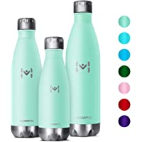 HOMPO Stainless Steel Water Bottle - 350ml/ 500ml/ 750ml BPA Free Vacuum Insulated Metal reusable Water Bottle, Double Walled keeps Hot & Cold leak proof Drinks bottle for kids, sports, gym