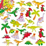 Baker Ross Dinosaur Foam Stickers for Children to Decorate and Embellish Arts and Crafts (Pack of 102)