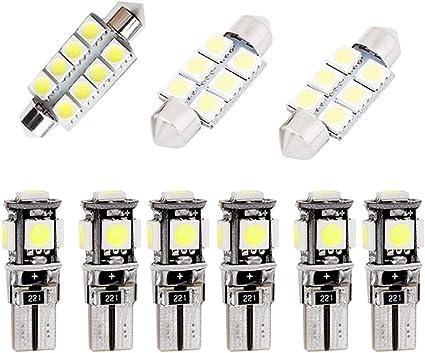 Para Golf GIT LED Bombilla Luz Interior de Coche Super brillante ...