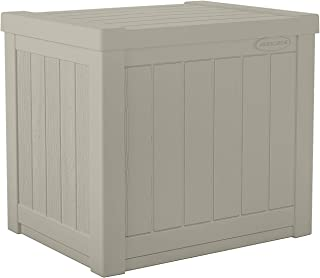 product image for Suncast 22-Gallon Small Deck Box - Lightweight Resin Indoor/Outdoor Storage Container and Seat for Patio Cushions and Gardening Tools - Store Items on Patio, Garage, Yard - Light Taupe