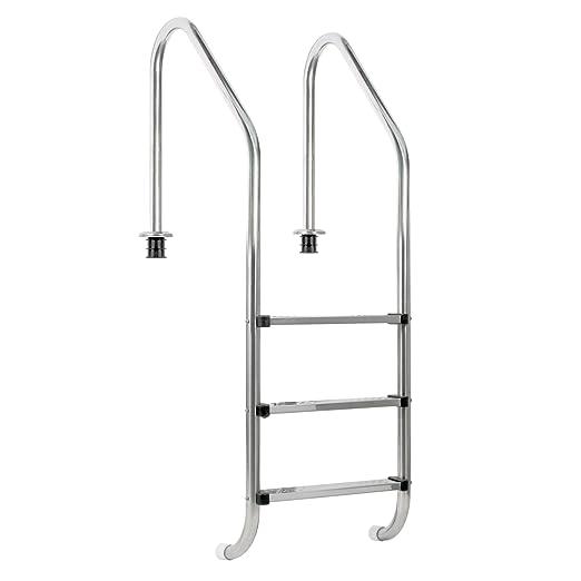 Zelsius – Piscina de acero inoxidable V2 A, escalera para ...