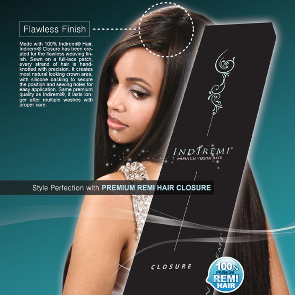 Amazon Indi Remi Premium Virgin Hair Straight Closure