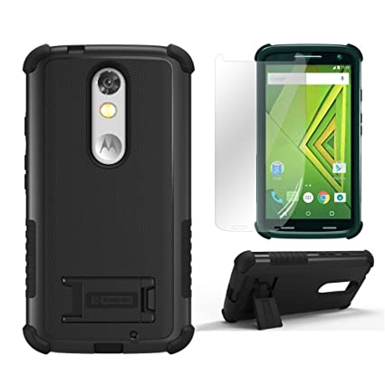 Droid Turbo 2 Cases,Kinzie XT1585 Beyond Cell[Dirtproof]High Impact Armor Hybrid