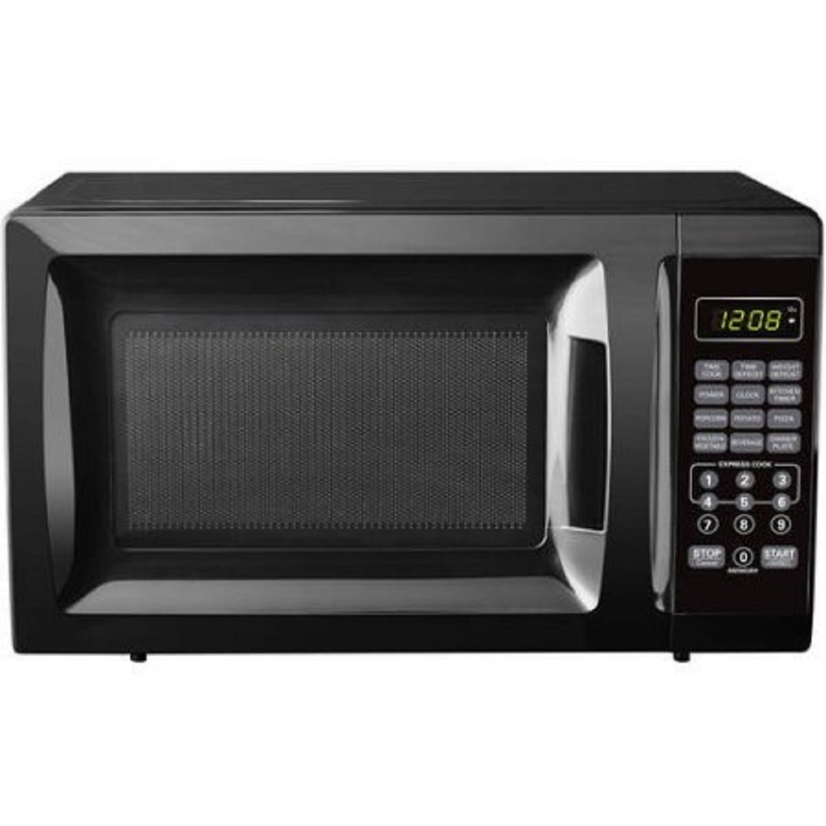 0.7-Cubic Foot Black Child-Safe Lockout Feature 10 Power Levels 6 Quick-Set Menu Buttons LED Display Microwave Oven
