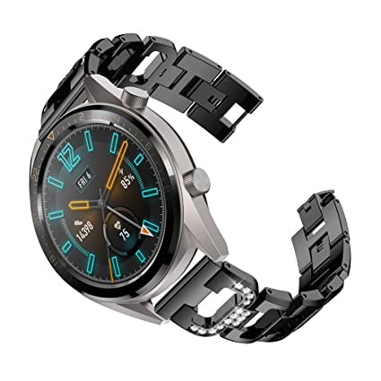 Amazon.com: Cywulin Stainless Steel Band for Huawei Watch GT ...