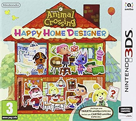 Animal Crossing: Happy Home Designer + 1 Tarjeta Amiibo + Pack 3 ...