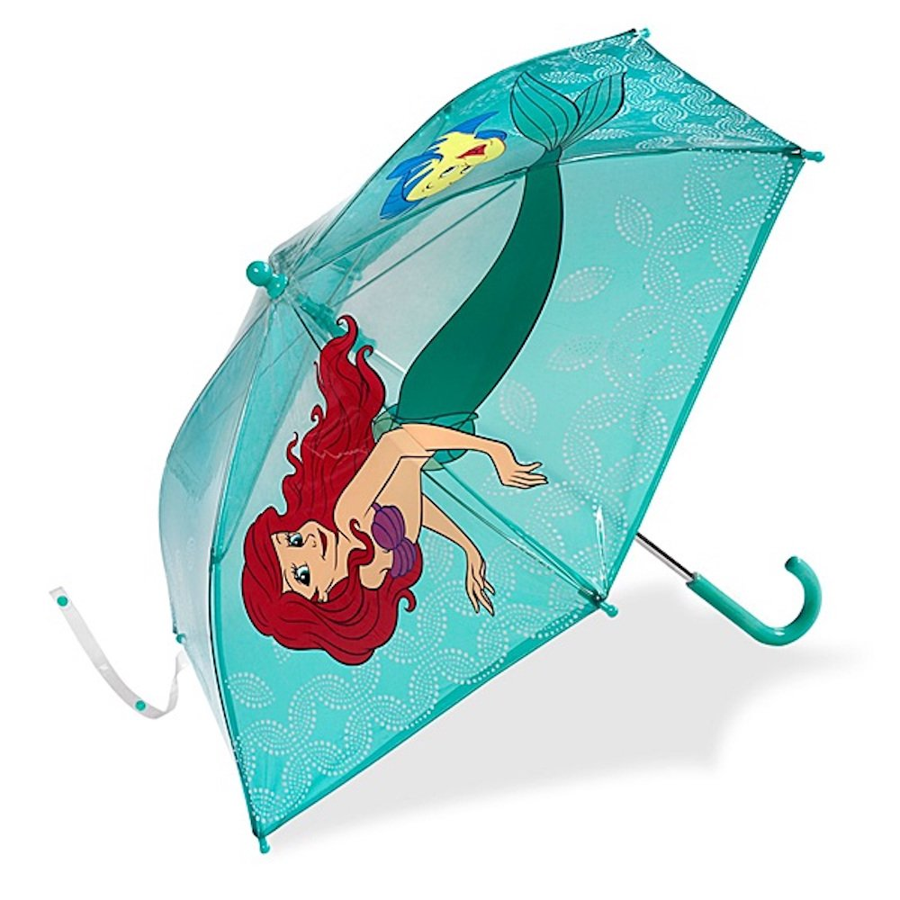 Disney Store Deluxe Ariel The Little Mermaid Umbrella With Flounder for Girls 2016 by Disney Interactive Studios