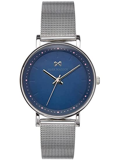 Mark Maddox Reloj Analogico para Mujer de Cuarzo con Correa en Acero Inoxidable MM0105-37: Amazon.es: Relojes