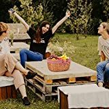G GOOD GAIN Wicker Picnic Basket with Double