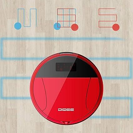 XLUOYI Robot De Barrido Inteligente Control Remoto Cámara De Videovigilancia Barrido De Succión Trapear Aspiradora Automática Wifi,Red-28cm*6cm: Amazon.es: ...