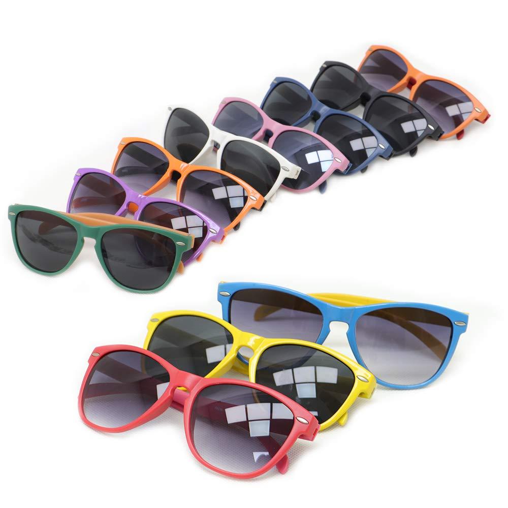 Amazon.com: VCOSTORE - Gafas de sol de neón, paquete de 24 ...