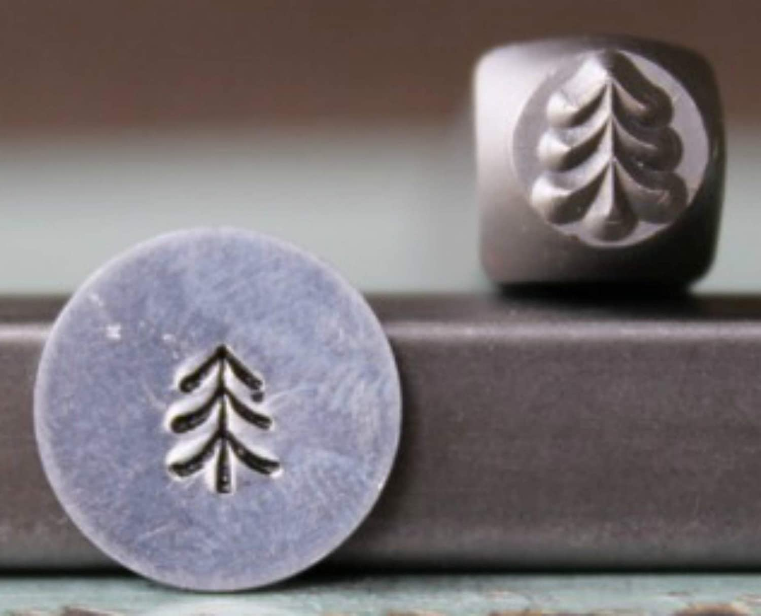 CH-279 Brand New 5mm Simple Pine Tree 2 Metal Punch Design Stamp Supply Guy